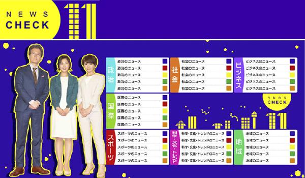 NHK「ニュースチェック11」
